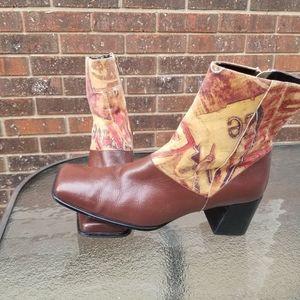 Unique Bellini Garmel Leather Square Toe Boots 8M